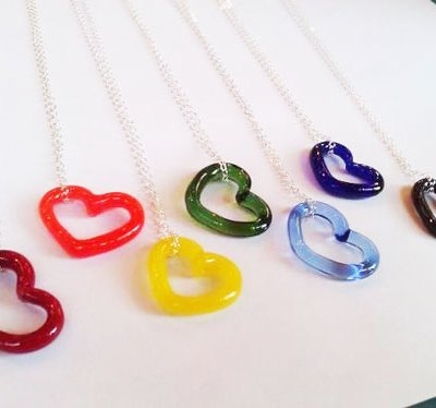 Necklace - Glass Heart