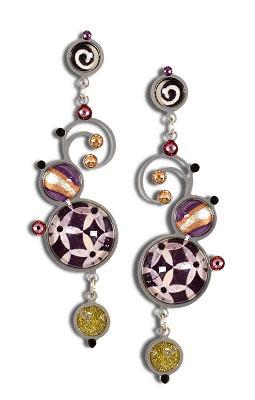 Long Deep Purple Earrings