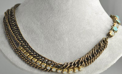 Combination Necklace or Bracelet - Multichain Wrap
