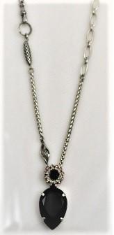 Black Pear Shaped Pendant