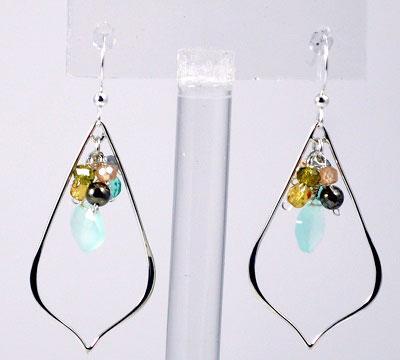 Oria Petal Gemstone Earrings