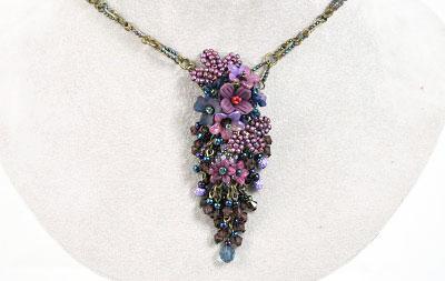 Twilight Hand-beaded Necklace