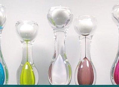 Glass Swedish Candle Holder - White