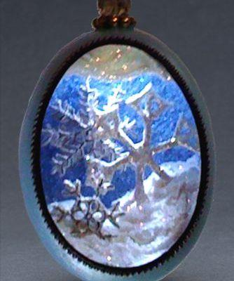 Goose Egg Snowflake Ornament