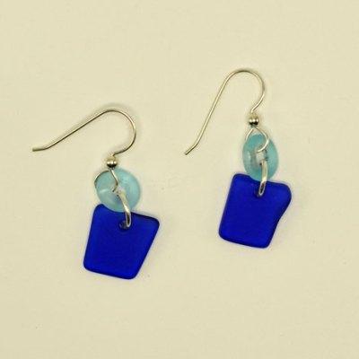 Seaglass Lifesaver Earrings - Assorted