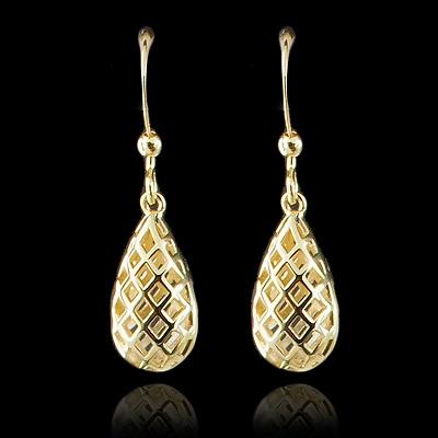 Open Lattice Gold Earring