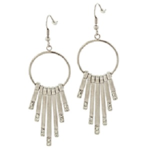 Silver Farrah Earrings