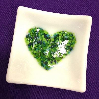 Heart Glass Mini Tray