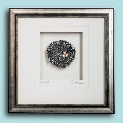 Bird's Nest Pewter Wall Art