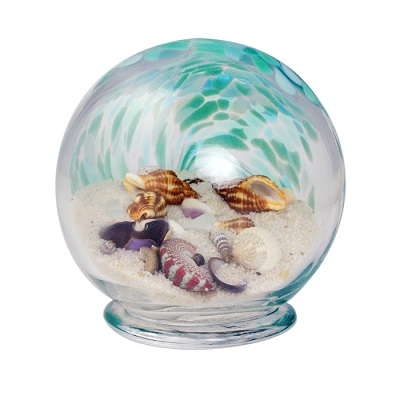 Small Glass Sea Globe -Green