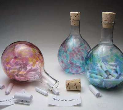 Sweet Dream Glass Bottles - Assorted Colors