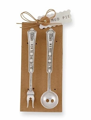 Olive Spoon and Fork Set