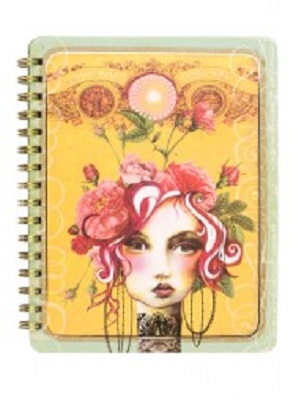 Rose Blank Spiral Notebook