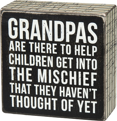 Box Sign - Grandpas