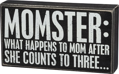 Box Sign - Momster