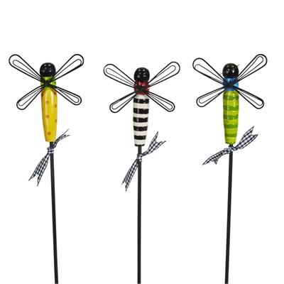 "Dragonflies 12"" Plant Pokes - Set of 3"