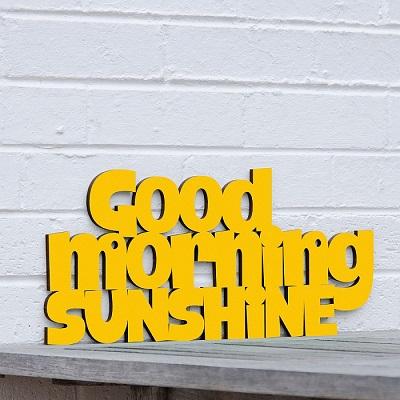 Good Morning Sunshine Wall Art