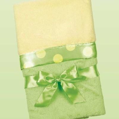 Silky Soft Crib Blanket - Green/Yellow