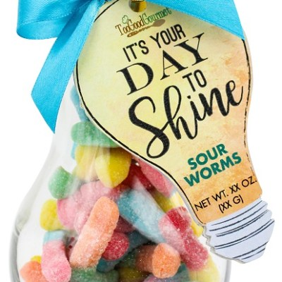 Sour Worms - Light Bulb Container
