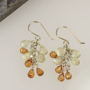 Gemstone Waterfall Earring