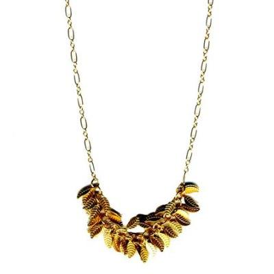 Petite Gold Leaf Necklace