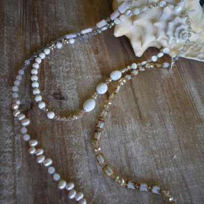 """Medley 60"""" Necklace-Champagne"""
