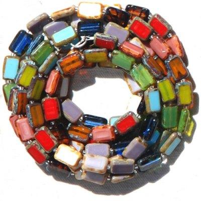 5-Strand Trilogy Bracelet - Rainbow