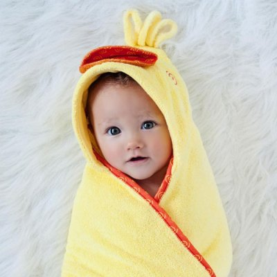 Zoocchini Baby Hooded Towel - Puddles the Duck