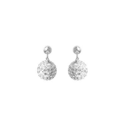 Silver Belle of the Ball Earrings