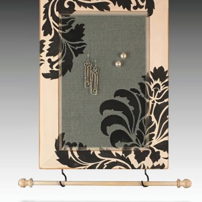 Earring Holder-Jewelry Organizer-Damask Corners
