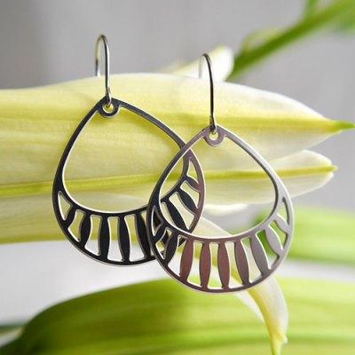 Basket Stainless Steel Earrings