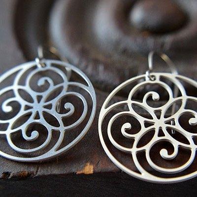 Spiral Circle Stainless Steel Earrings