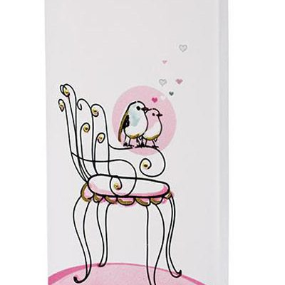 Love Birds on Bistro Chair Candle