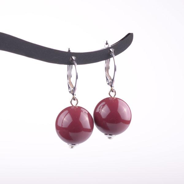 Simple Drop Earring - Bordeaux
