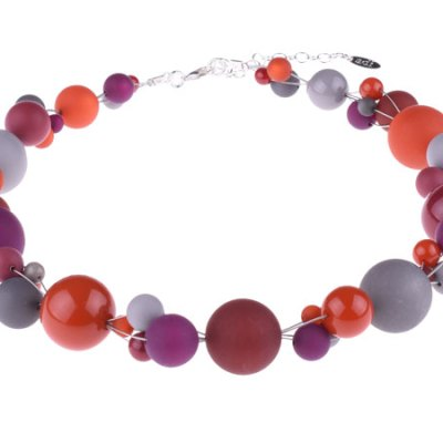 Twisted Bead Bordeaux Necklace