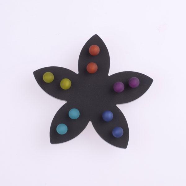 Small Dot Earrings - Dark Multi