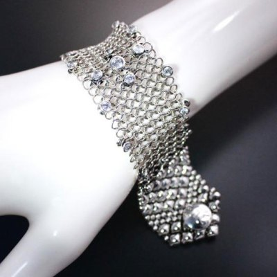 Chainmail Silver Bracelet