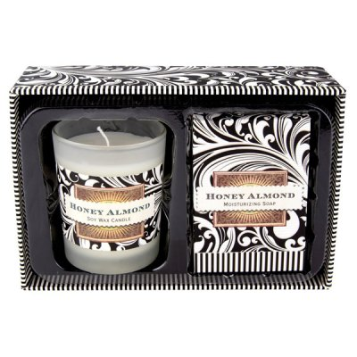 Honey Almond Candle-Soap Gift Set