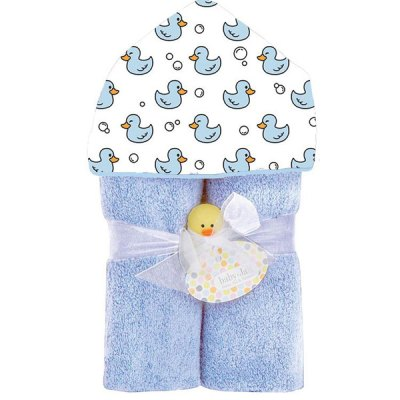 Deluxe Towel Plush Hood - Blue Ducks