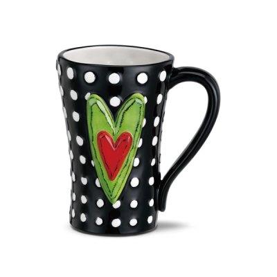 White Dots Ceramic Mug
