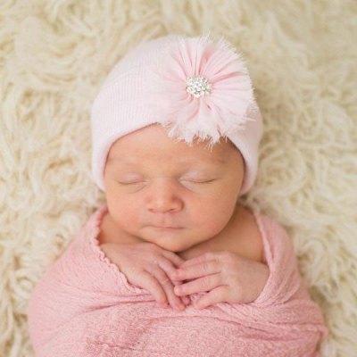 Pink Fairy Flower Baby Hat