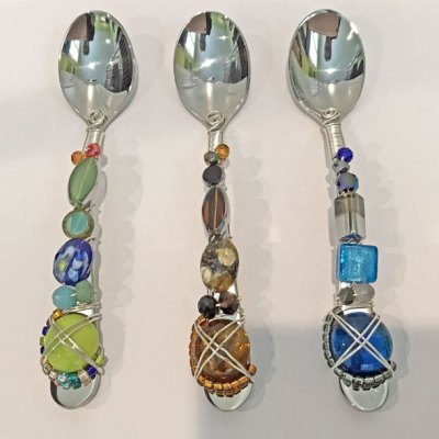 Wire Wrapped Beaded Spoons