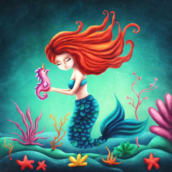 Zen Peapod Puzzle - Little Mermaid