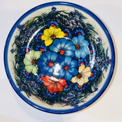 Polish Pottery Multi Flower Bowl