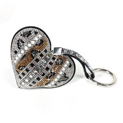 Keychain Iced Crystal Heart