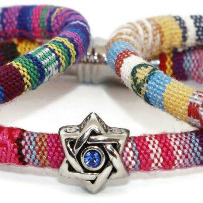My Tribe Swarovski Cotton Bracelet