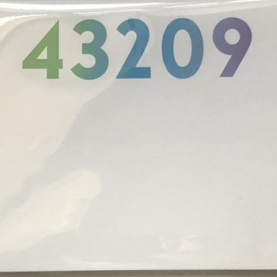 43209 Zipcode Ombre Dittie Notepad
