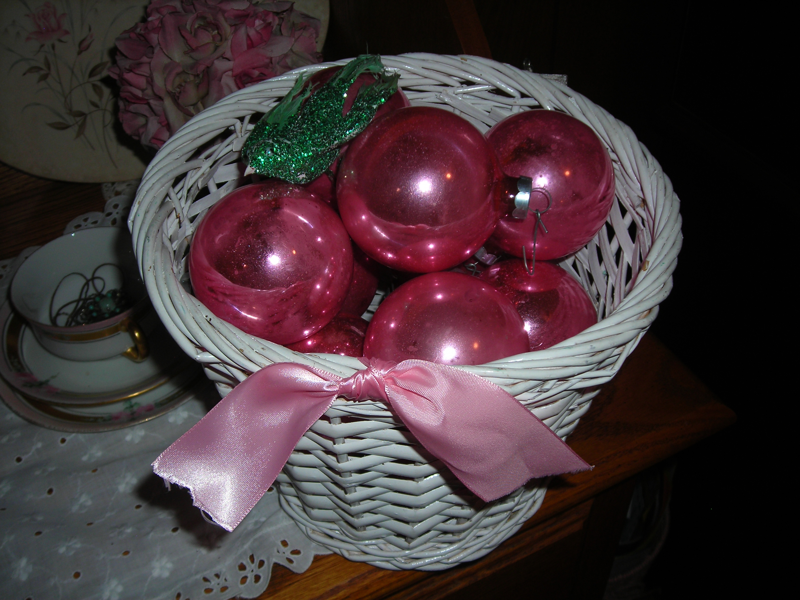 a basket of PINK yummies from sue's booth