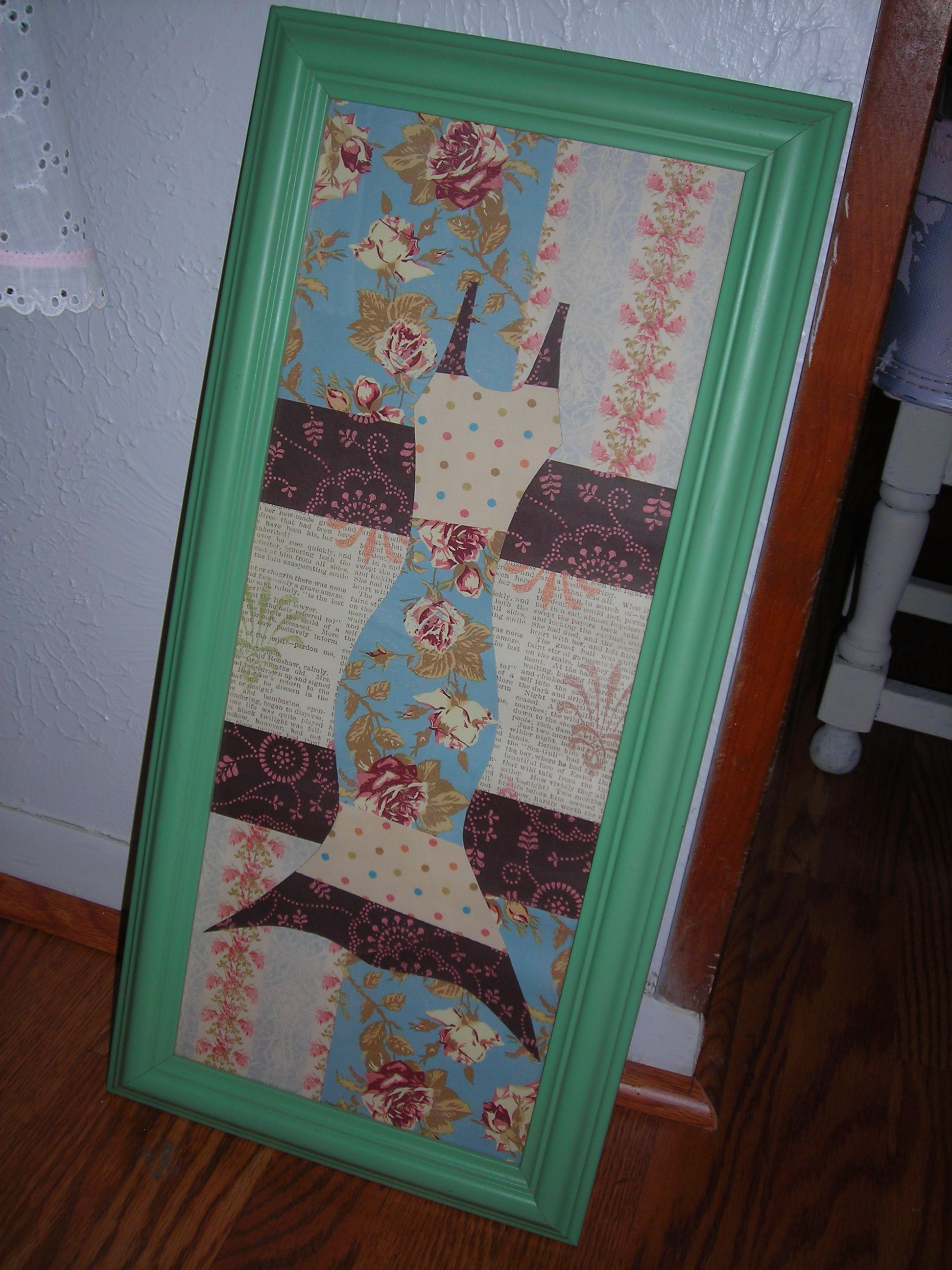 sweet hand-crafted piece ... love the colors in this too! rainy day special: $3