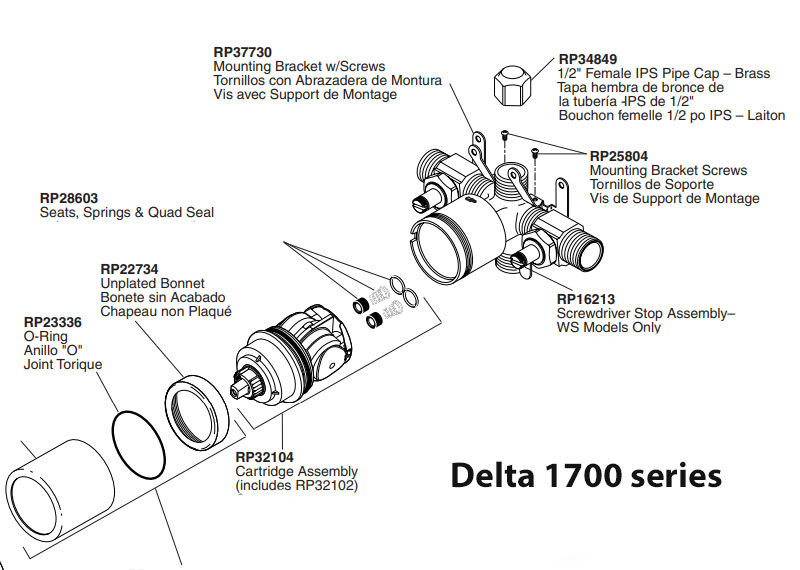 replacing a delta 1300 series with a